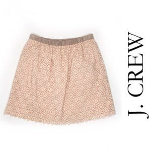 J Crew Light Pink & Taupe Lace Cottage Mini Skirt